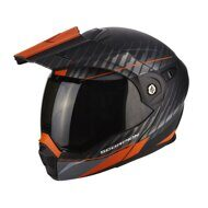 Шлем Scorpion ADX-1 Dual Matt Black Silver Orange