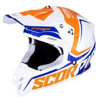 Кроссовый шлем Scorpion VX-16 Air Ernee White Orange Blue