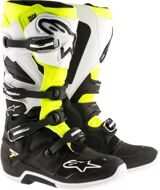 Кроссовые мотоботы Alpinestars Tech 7 Black White Yellow