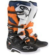 Кроссовые мотоботы Alpinestars Tech 7 Black Orange White Blue